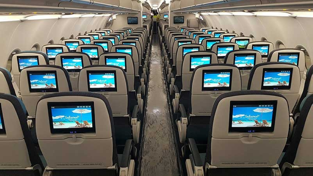 NEW AIRCRAFT. Philippine Airlines' new A321neo features personal in-flight entertainment for all its passengers. (Contributed by PAL Corp Comm)
