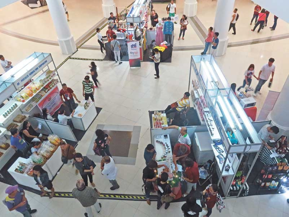 "Fair and square. MSMEs are selling food, accessories and other ""culturally rooted products"" in the One Town, One Product Fair, ongoing until June 6 in the Ayala Center Cebu. (SunStar photo / Allan Cuizon)"