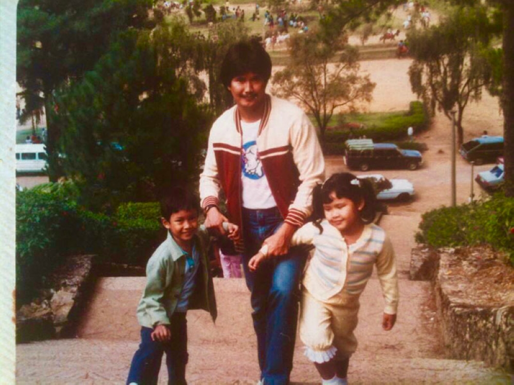 An old photo taken in Baguio circa 1980s. My bro and I have many fond memories there with my family.