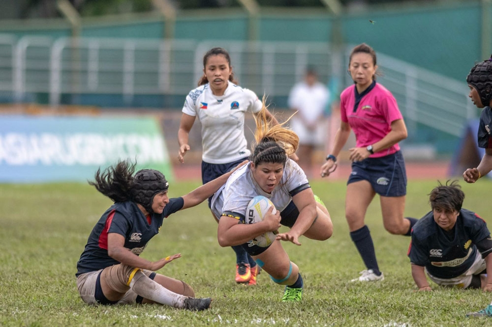 Impact sub. Eloisa Jordan of Cebu provided the much-needed energy off the bench for the Philippine Lady Volcanoes. (Contributed Foto/Asian Rugby)