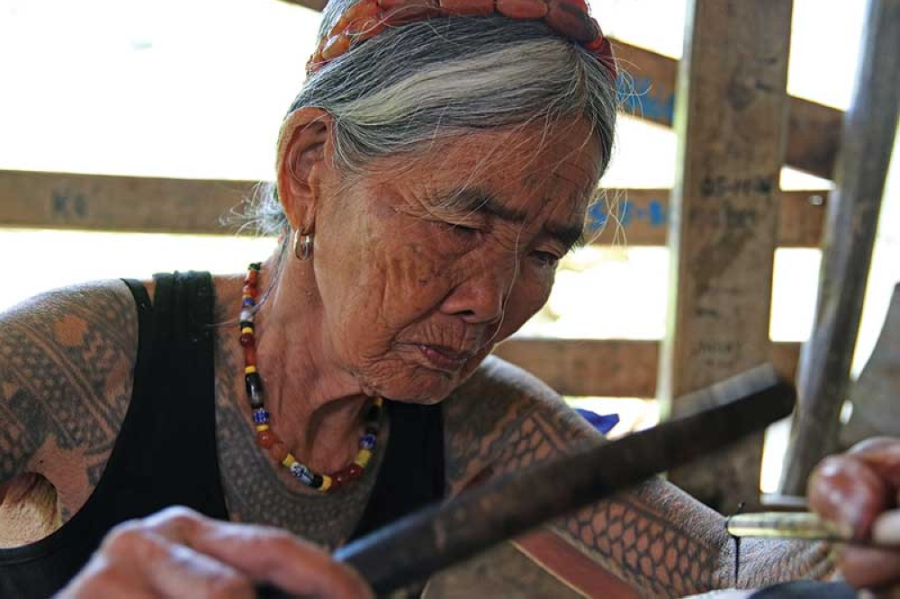 """BAGUIO. Kalinga icon Maria """"Whang-od"""" Oggay will be conferred the Dangal ng Haraya Award for Intangible Cultural Heritage by the National Commission for Culture and the Arts later this month. (Milo Brioso)"""