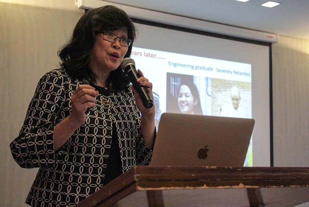 Dr. Carmencita David-Padilla, founding president of the Newborn Screening Society of the Philippines and the current chancellor of UP-Manila
