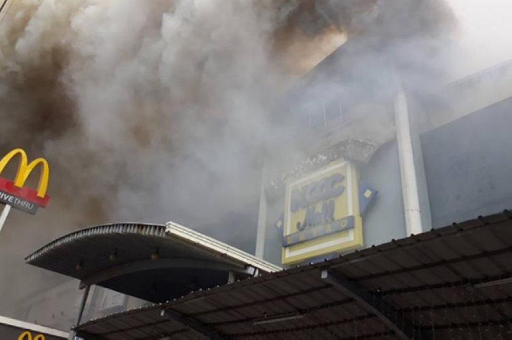 DAVAO. Fire in NCCC mall in Maa, Davao City last December 23, 2017, which claimed 38 lives. (SunStar file photo)