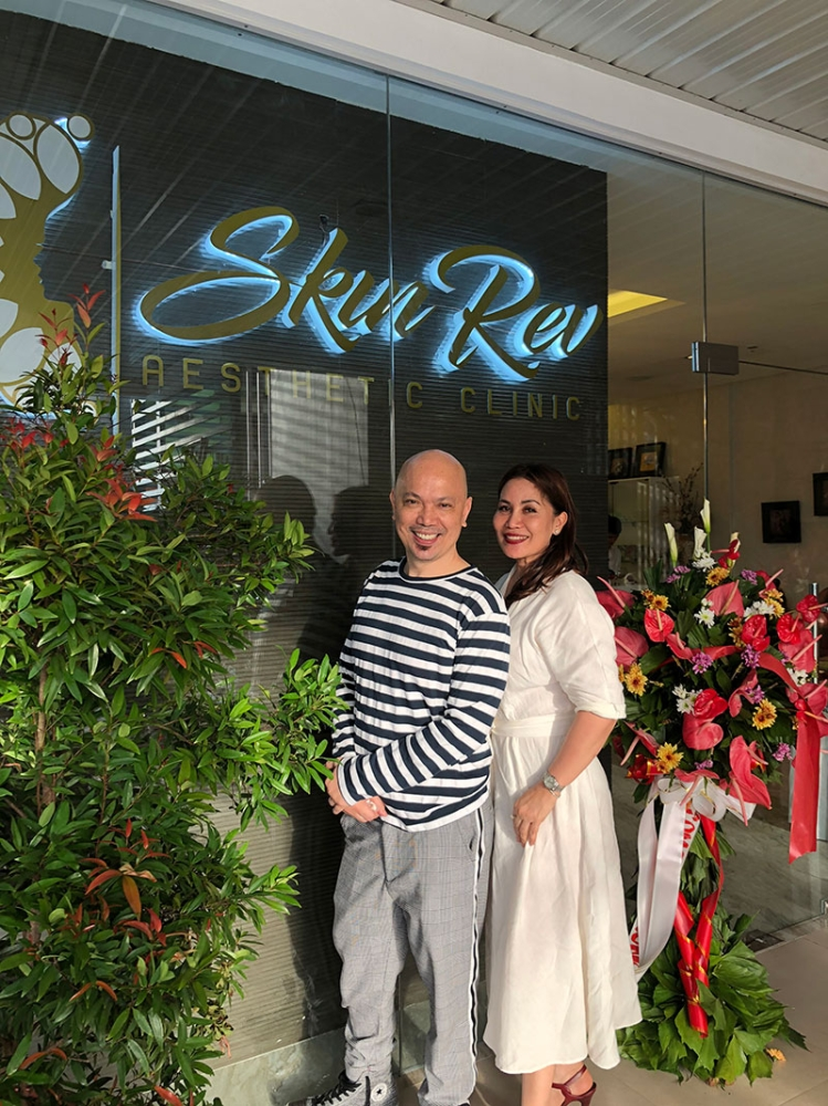 Friends and business partners—Arrissa Navarro and Doc Mendez at Skin Rev's opening. (Contributed photo)