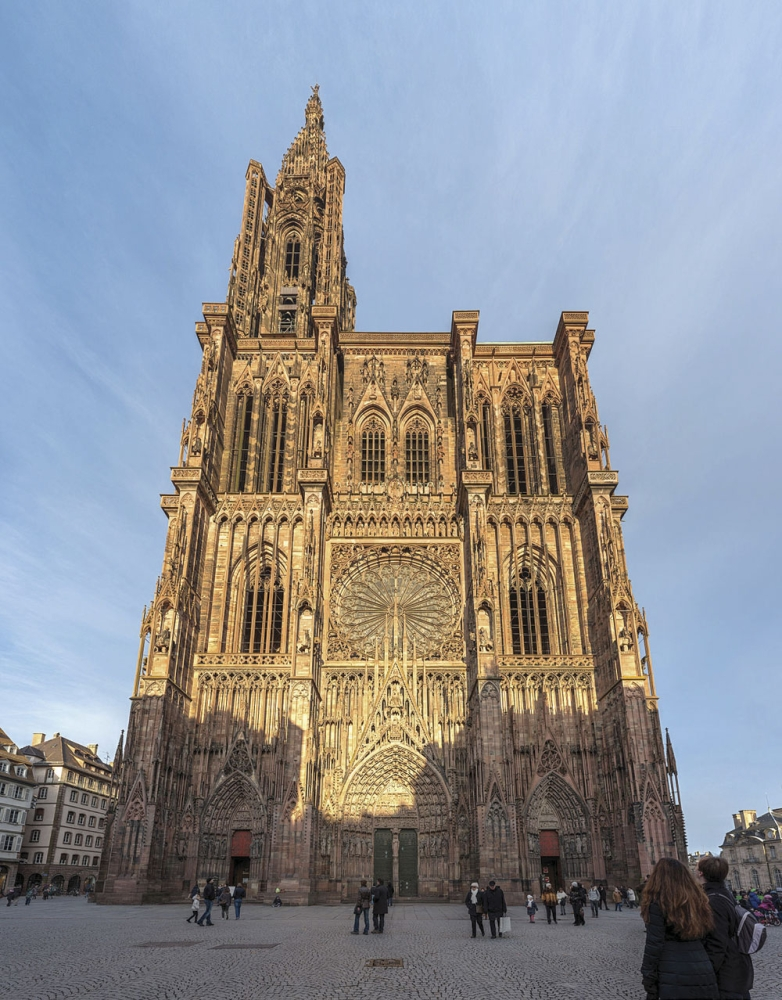 Cathedral Notre Dame De Stras-bourg. Best known for its astronomical clock and its lace-like carvings.