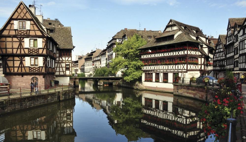 Strasbourg, France. The historic city center Grande Ile (Grand Island), a Unesco World Heritage Site.