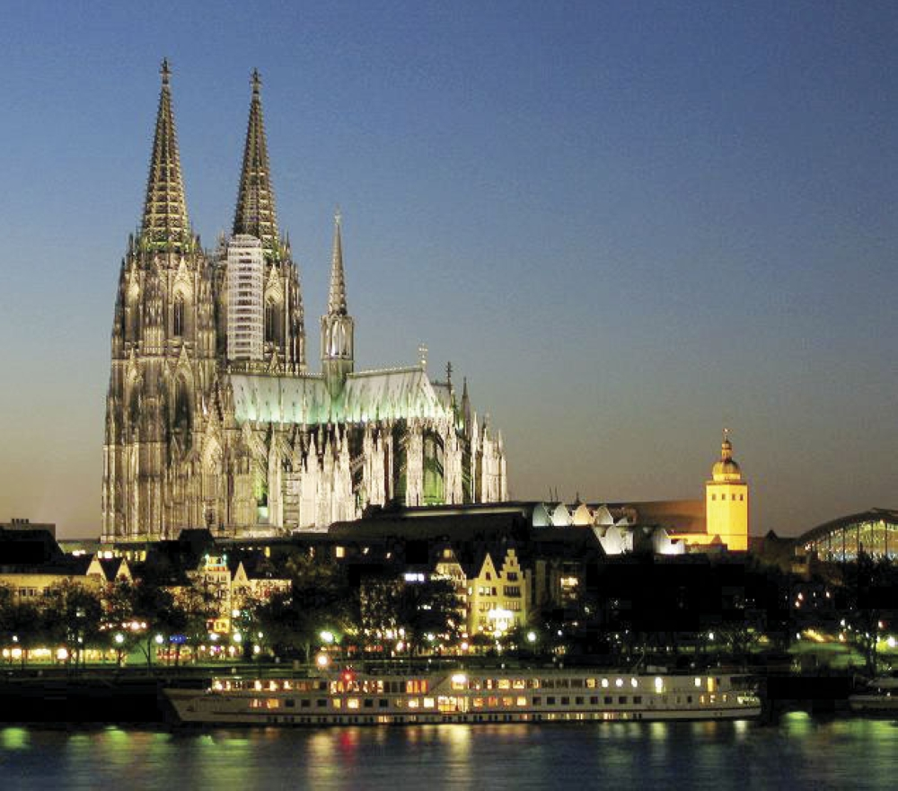 The Cologne Cathedral. The Gothic landmark in Cologne, a Unesco World Heritage Site which took all of 632 years to build.