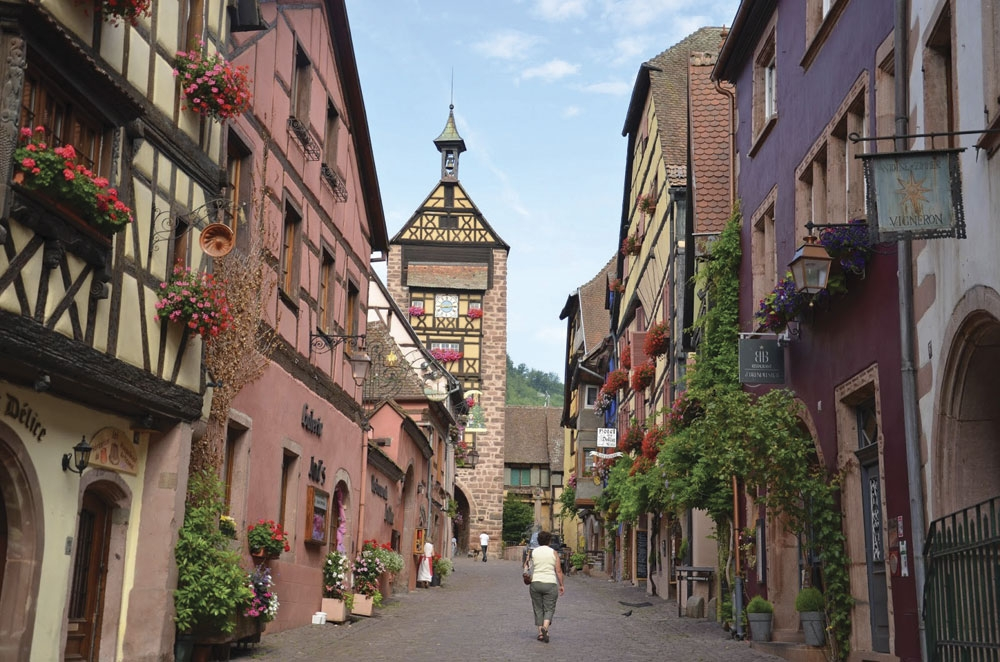 Riquewihr. One of the most beautiful villages of France where time seems to have stood still.