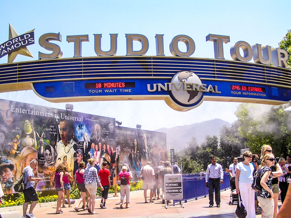The studio tour at Universal Studios was a lot of fun.