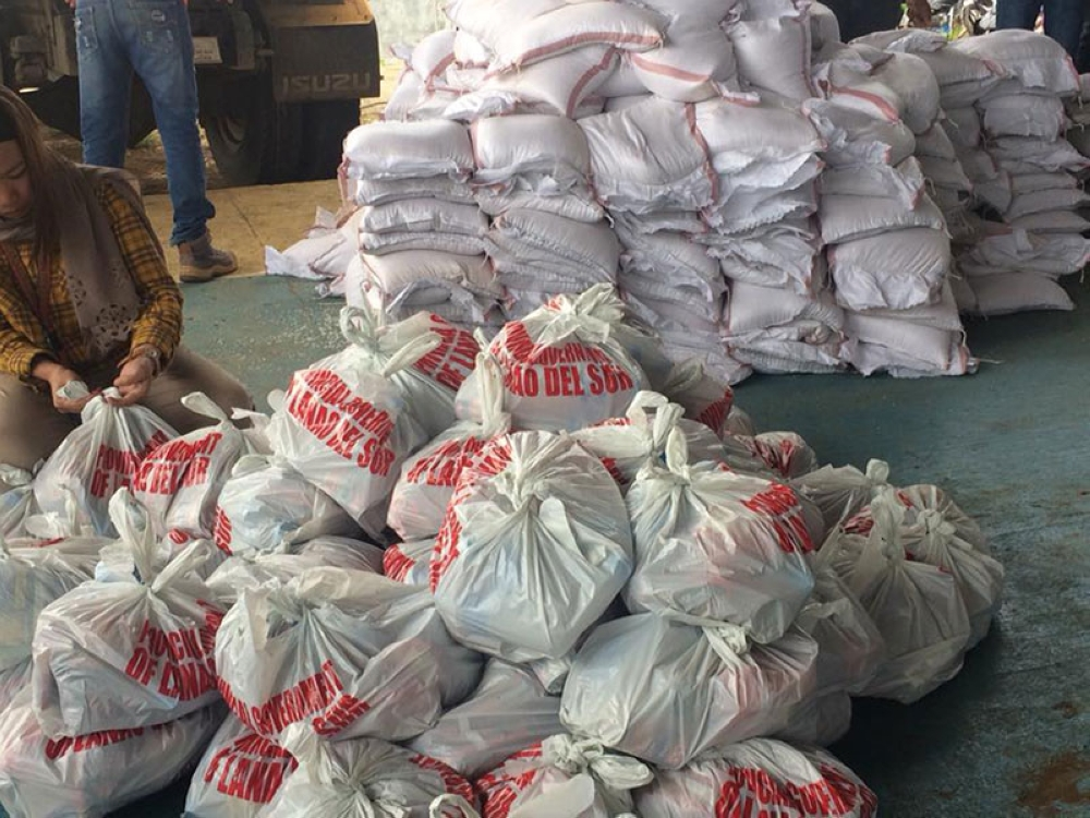 LANAO DEL SUR. The Provincial Social Welfare and Development Office prepares relief goods for the families displaced by the military operations against the Maute group in this photo taken on June 18, 2018 in Binidayan town. (Photo from Provincial Government of Lanao del Sur Facebook)