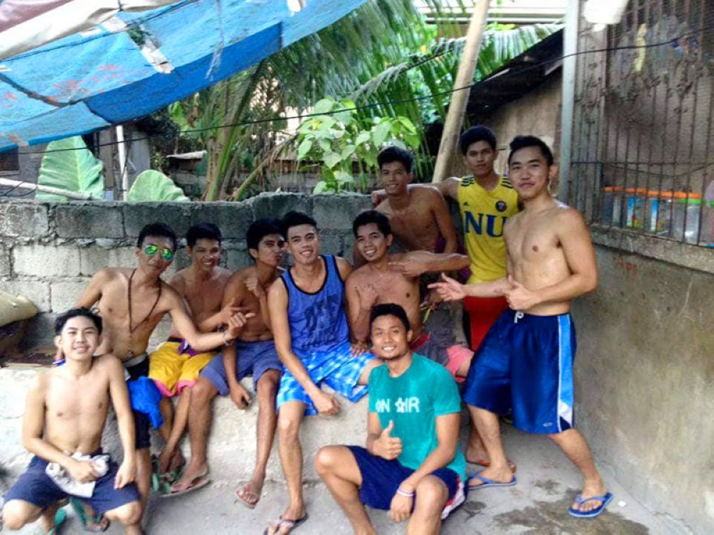 CEBU. These young men are not wearing shirts because they just finished playing basketball. Are they covered by the anti-tambay campaign? The Commission on Human Rights wants to suspend the anti-tambay operations until clear guidelines are in place. (Contributed photo)