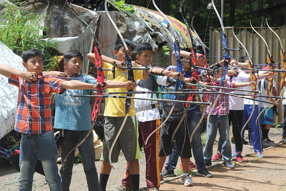 BAGUIO. This early, Baguio City archers hone their skills as the city aims for another stellar performance in the Batang Pinoy national finals hosted by the Summer Capital on September. (Roderick Osis)