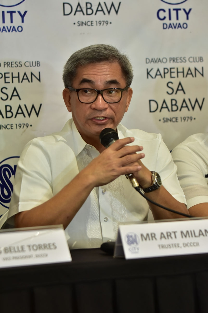 DAVAO. Davao City Chamber of Commerce and Industry, Incorporated (DCCCII) president Arturo Milan said they are to present a proposal to modernize Francisco Bangoy International Airport. (Macky Lim)