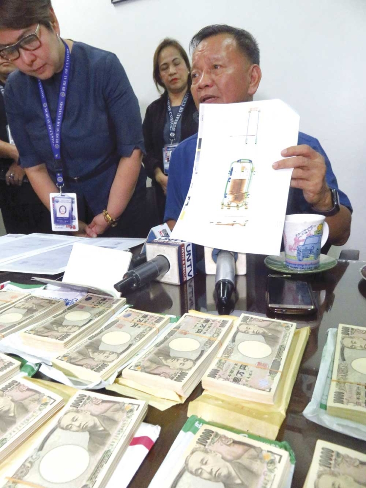 A yen for cash. A first-time visitor to Cebu was caught carrying undeclared millions in yen (about P9.6 million in cash) upon arrival in Mactan from Tokyo.