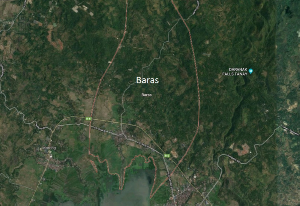 Baras, Rizal (Google Map)