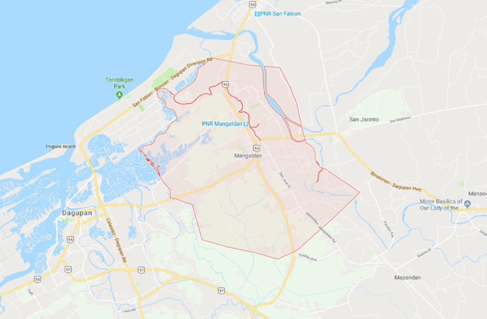 Mangaldan, Pangasinan (Google Map)