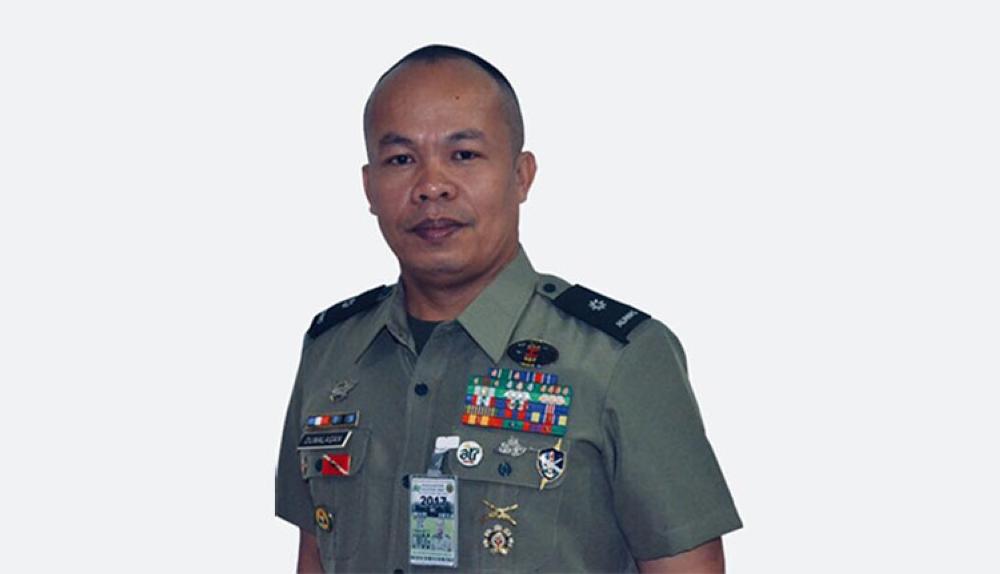 MANILA. Army Major Arturo Dumalagan, who advocates the