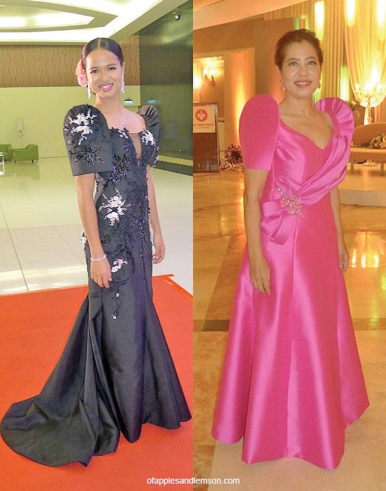 DAVAO. Ingrid Taojo in Randy Ortiz (53rd Hijos de Davao, 2017) and Yvonne Sasin in Aris Escarilla (52nd Hijos de Davao, 2016). (Jinggoy Salvador)
