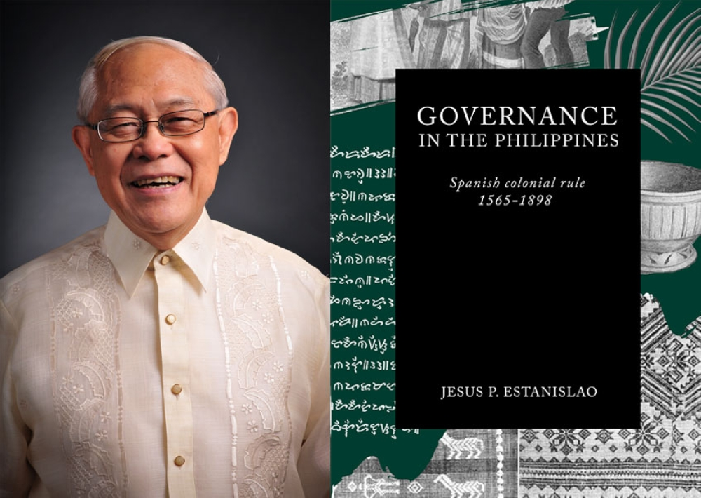 """Dr. Jesus Pilapil Estanislao and his 21st book, """"Governance in the Philippines: Spanish Colonial Rule (1565-1898)."""""""