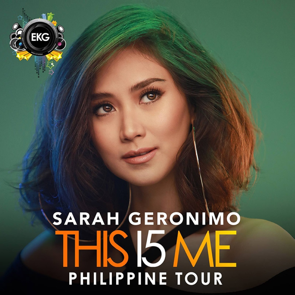 DAVAO. Sarah Geronimo will rock the city again for the Davao leg of her #This15Me Concert Tour on June 30 at SMX Convention Center, SM Lanang Premier, Davao City. (Contributed photo)