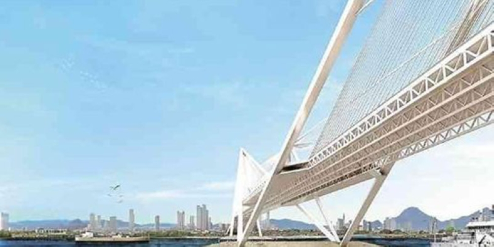 DAVAO. This is an artist's perspective of the proposed Davao-Samal bridge. (File Photo)
