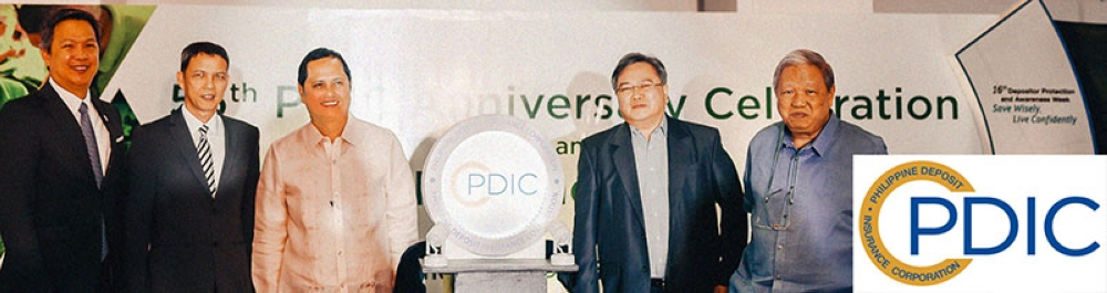 PAMPANGA. The Philippine Deposit Insurance Corporation (PDIC) celebrated its 55th anniversary on June 22, 2018 through the launch of its new logo and strengthened corporate brand. PDIC President Roberto Tan (3rd, L) led the launch along with (L-R) Finance Undersecretary and PDIC Alternate Director Bayani Agabin, PDIC director Eduardo Pangan, Bangko Sentral ng Pilipinas Assistant Governor Restituto Cruz, and PDIC director Reynaldo Tansioco. (Contributed Photo)