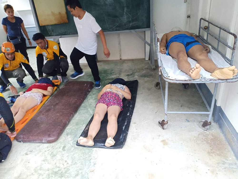 ALEGRIA. Three adults, mostly in their mid 20s, drowned when the pump boat they were riding capsized off the coast of Barangay Madridejos, Alegria, around 3 p.m. Wednesday, July 4. (Photo courtesy of Alegria Police Station Chief Efren Diaz)