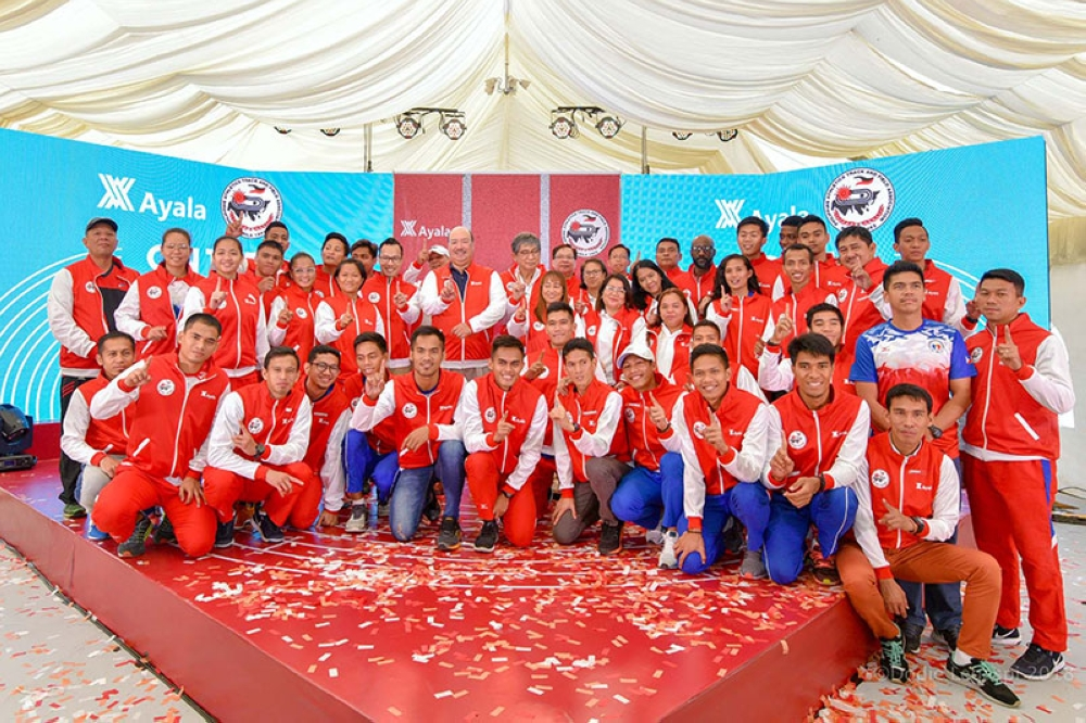 BAGUIO. Ayala officially welcomes the Patafa athletes to their new home at the Vermosa Sports Hub. (Contributed photo)