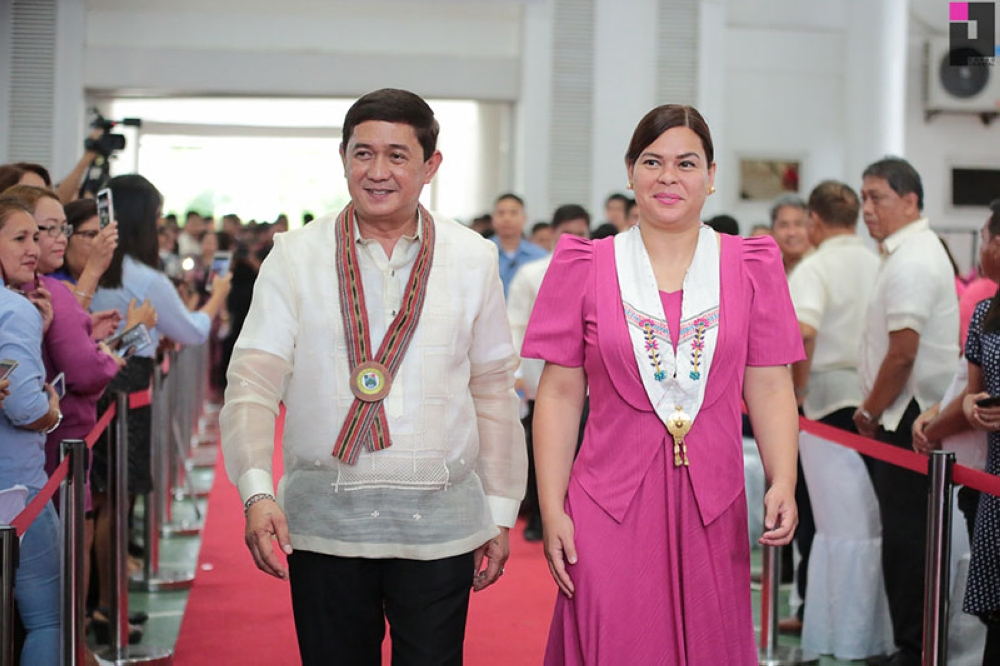DAVAO. Governor Nelson L. Dayanghirang with Davao City Mayor Sara Duterte-Carpio. (Contributed photo)