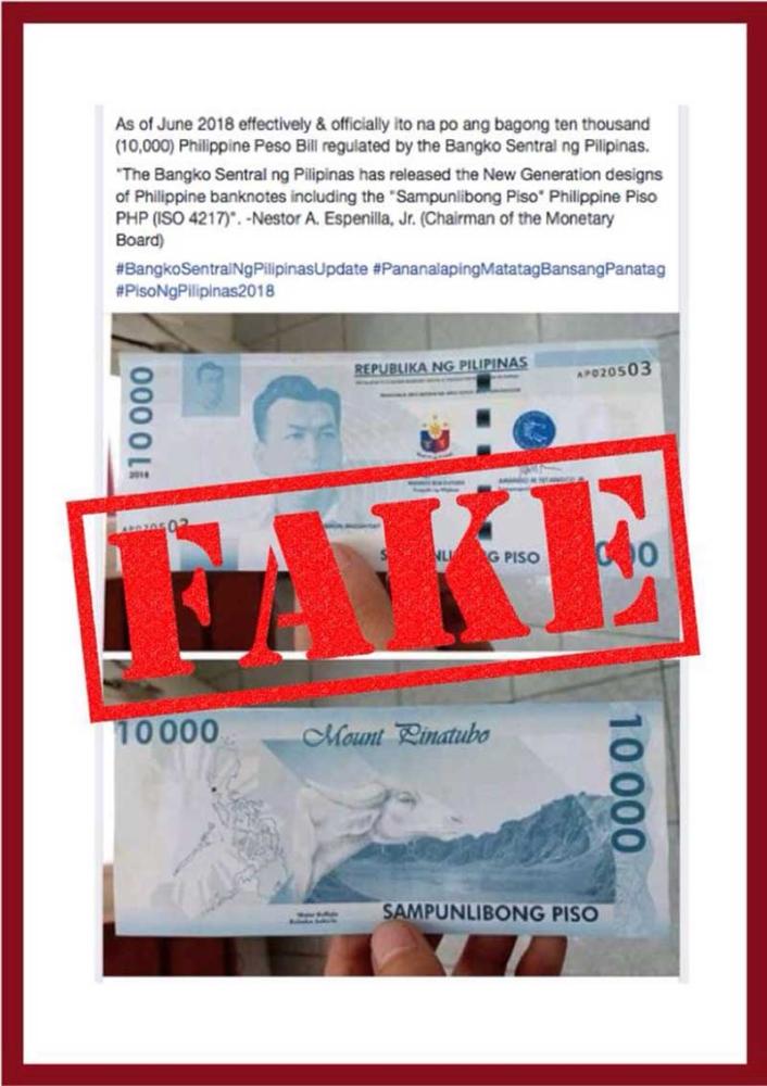 Bangko Sentral ng Pilipinas (BSP) Advisory on Fictitious 10,000-Piso Banknote (BSP)
