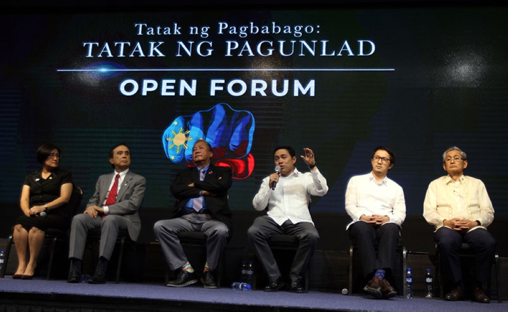 MANILA. Tatak Pagbabago Pre-Sona 2018 open forum on Economic Development Cluster & Infrastructure Cluster held at PICC in Pasay City. (Al Padilla/SunStar Philippines)