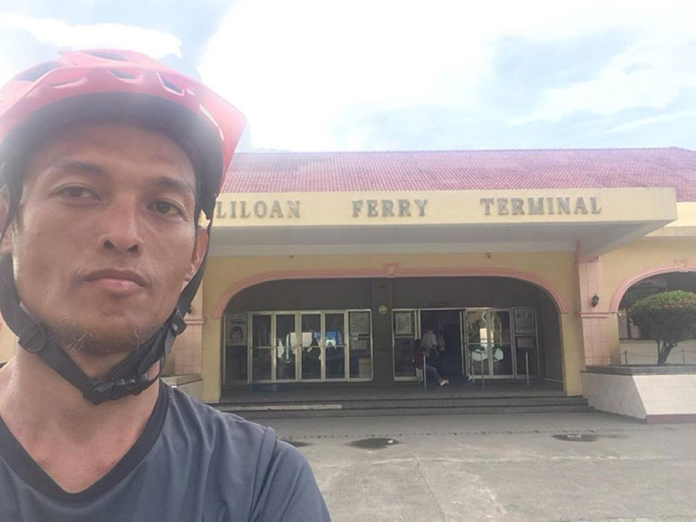 TACLOBAN. Atty. JP Anthony Cuñada arriving at the Port of Liloan in Liloan, Southern Leyte before crossing to Surigao on July 6. (Photo courtesy of JP Anthony Cuñada)