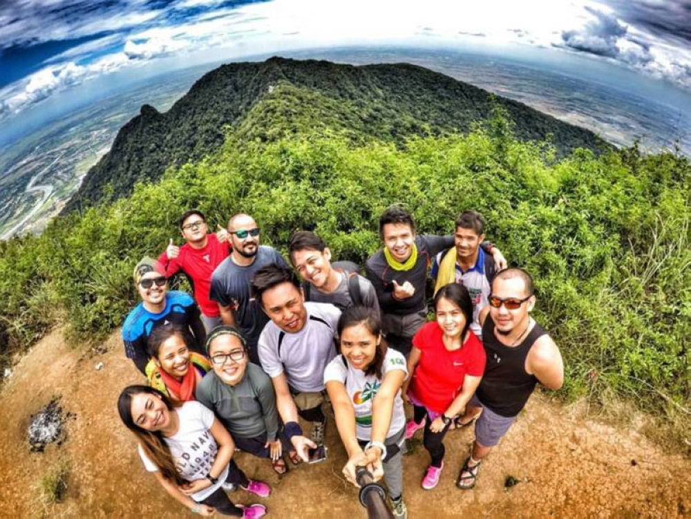 TACLOBAN. Atty. JP Anthony Cuñada with fellow mountaineers during their climb at Mt Arayat in Pampanga in April 2016. (Photo courtesy of JP Anthony Cuñada)