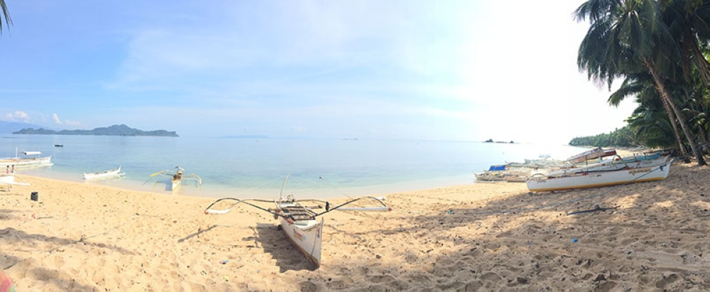 WHITE. A panoramic shot from the beach of Ayoke Island with a view of neighboring General Island. (Stella Estremera)