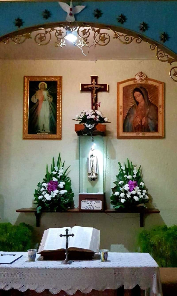 BACOLOD. This holy image is being preserved in a simple holy place in Bacolod City. (Contributed Photo)