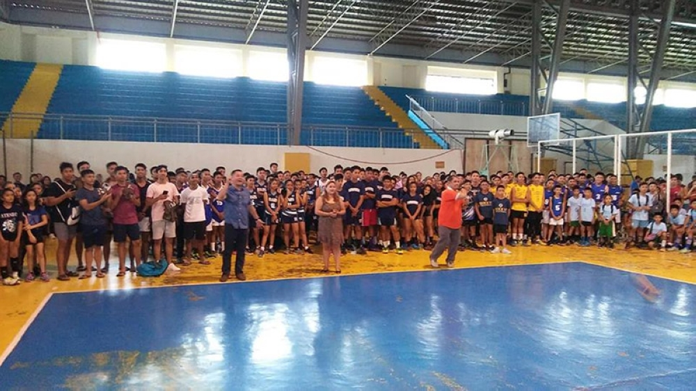 ILOILO. Around 700 volleyball players have joined this year's Iloilo City Developmental Volleyball League Season 4 at Central Philippine University Gym which kicked off July 7. (Iloilo City Government Facebook page)