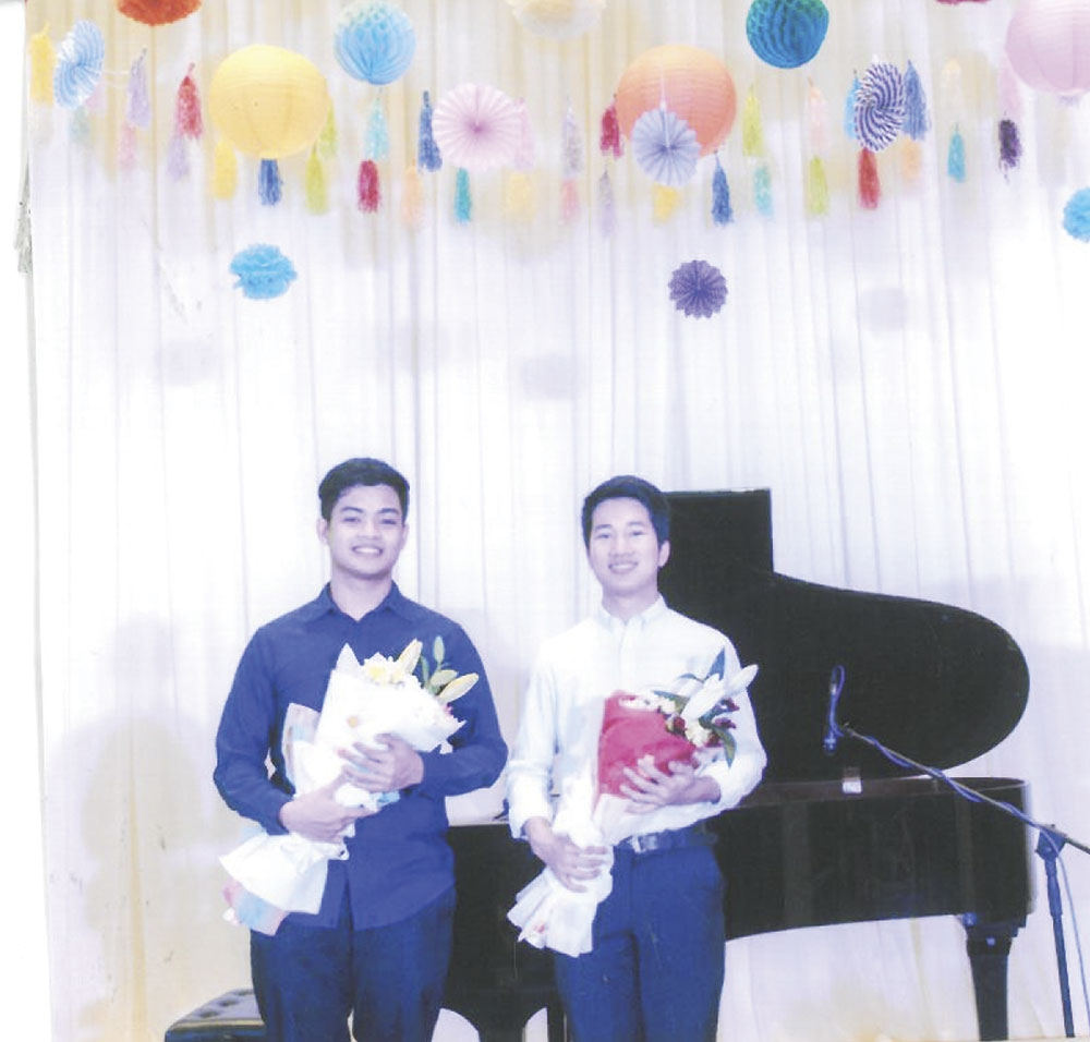 Skilled. Winners of the piano competition: Justin Joseph de Leon and Juan Paolo Panagsagan.