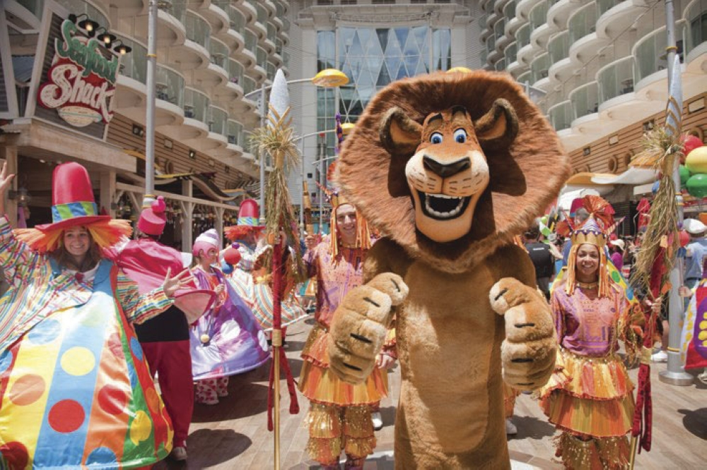 Larger than life. Experience the Dreamworks magic and hang out with your favorite characters from Shrek, Kung Fu Panda, and Madagascar as they parade and do photo ops on board the Royal Caribbean's Ovation of the Seas.
