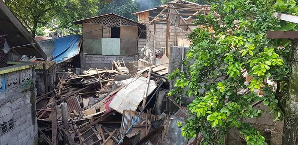 The aftermath of the demolition conducted by the Bacolod City Legal Office-Enforcement Team along the bank of Lupit River at Lacson Extension in Barangay Taculing. (Carla Cañet)