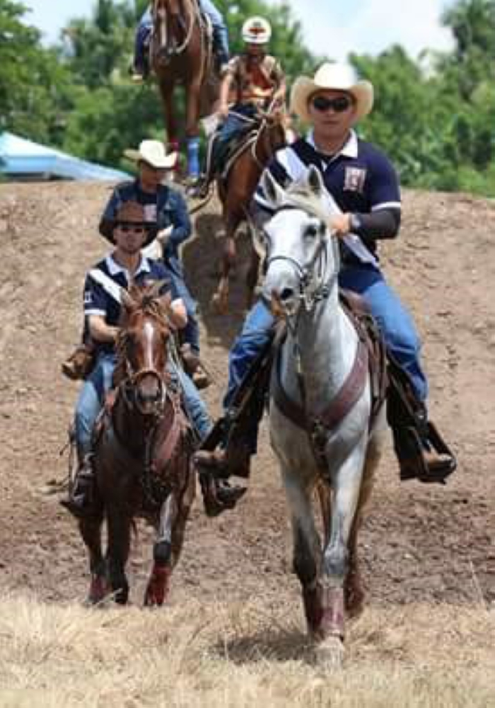 """DAVAO. Davao horsemen on a walk thru of the """"table top."""" (Photo from Davao Oriental Provincial Information Office)"""