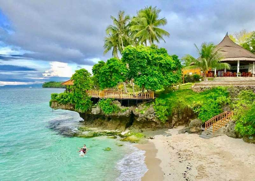 BOHOL. The nestled beach cove in East Coast White Sand Resort. (Hannah Victoria Wabe)