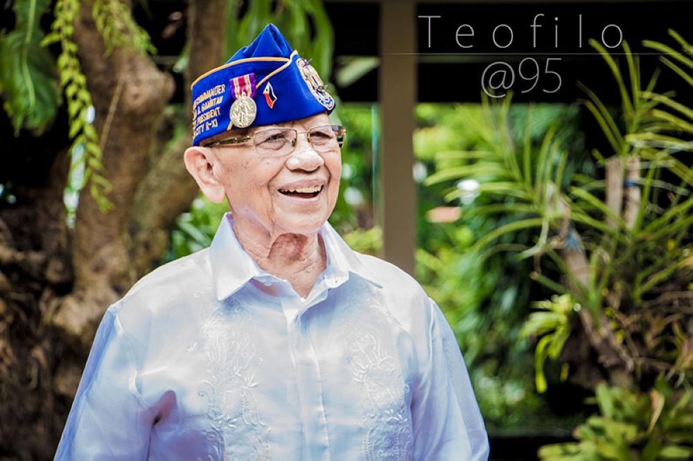 DAVAO. My grandfather Teofilo Gamutan turns 95. (Neil John Gamutan Capidos)