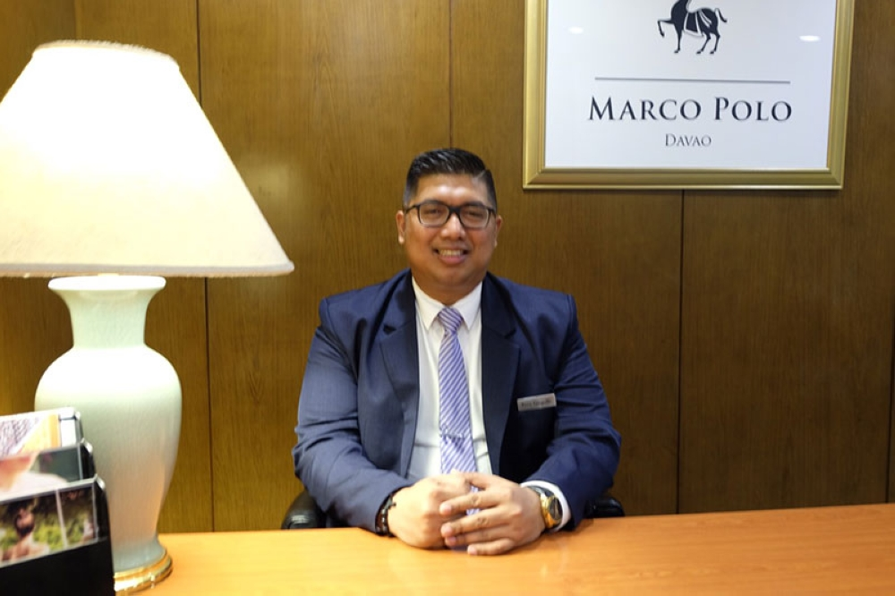 DAVAO. Renato Gargallo is the new RBE manager of Marco Polo Davao. (Photo by RJL)