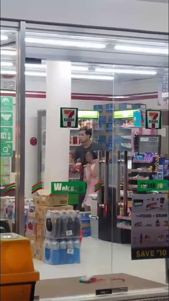 CAGAYAN DE ORO. The suspect, Nove Salon, took a 10-year-old girl hostage 7/11 convenience store in Kauswagan, this city, around 9 p.m., Saturday, July 14. (SuperBalita Cagayan de Oro)