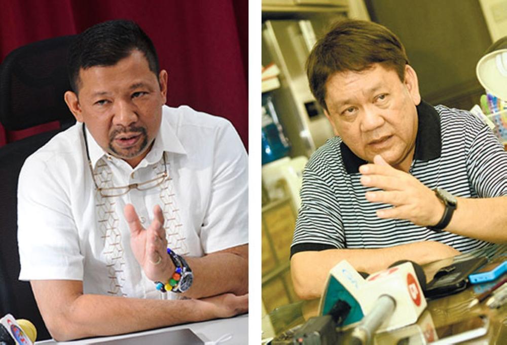 CEBU. LTO-Central Visayas Director Victor Caindec and Cebu City Mayor Tomas Osmena. (SunStar file)