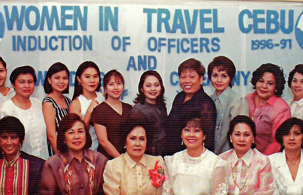 Founding clubs. The Women in Travel and Cebu Garden Club.