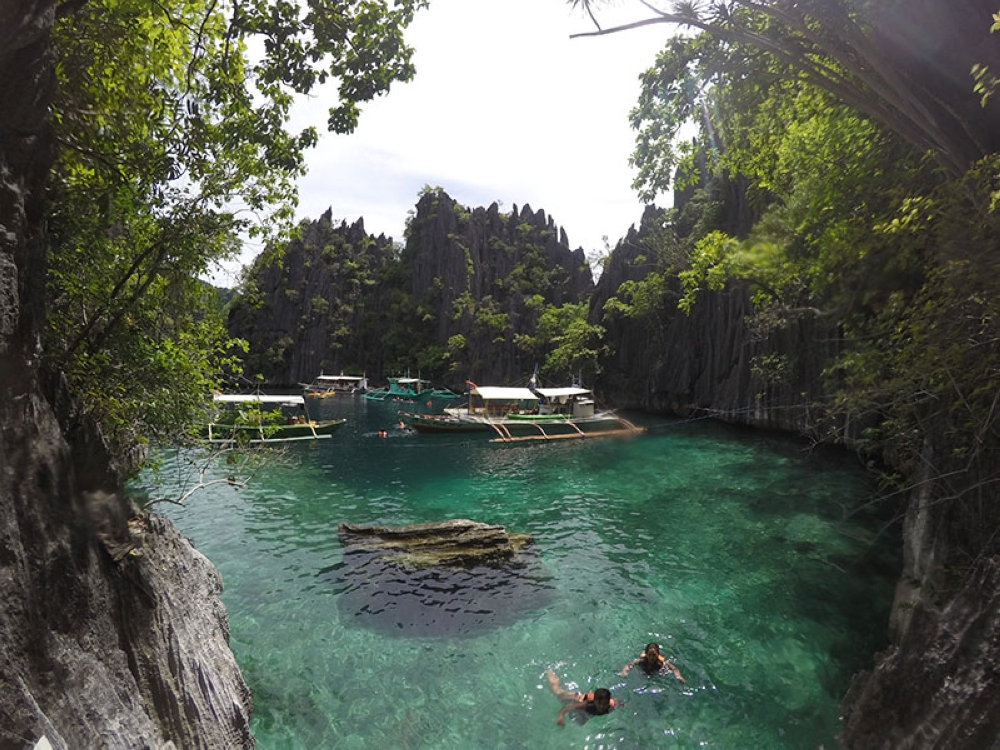 The first lagoon serves as the docking area for boats. (Contributed photo)