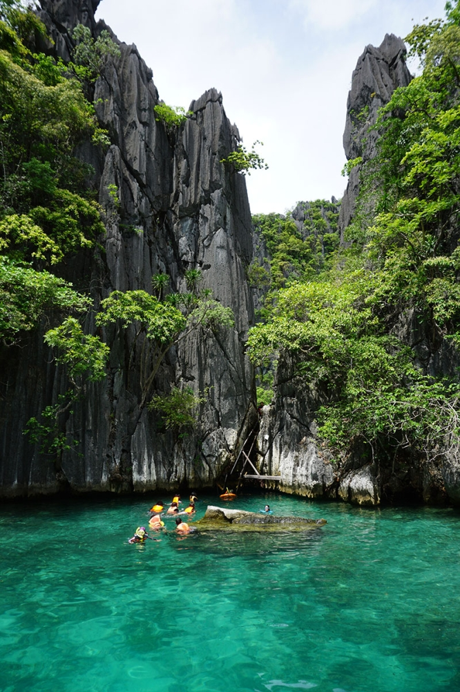 During high tide, the second lagoon in Twin Lagoon can only be accessed through climbing a ladder over the rocks. (Contributed photo)