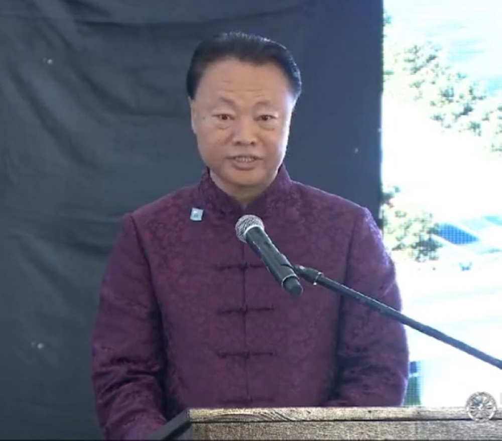 MANILA. Chinese Ambassador Zhao Jianhua speaks during the groundbreaking ceremony for the Binondo-Intramuros Bridge and Estrella-Pantaleon Bridge in Intramuros, Manila on July 17, 2018. (Photo from PCOO Facebook)