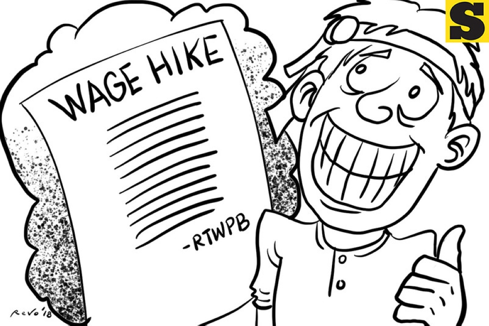 SunStar Bacolod editorial cartoon on wage increase